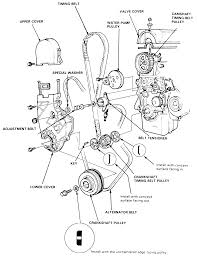 2003 honda civic belt diagram