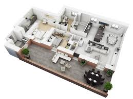 Awesome House Design Ideas Floor Plans Contemporary Amazing - Small apartment floor plans 3d