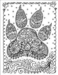 Instant Download Dog Paw Print You Be The Artist Dog Loveranimal