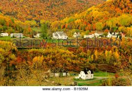 Village of Petit-Riviere-au-Renard in Fall, Gaspe, Quebec, Canada Stock  Photo - Alamy