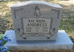 Ray Wilda Smith Andress (1921-2011) - Find A Grave Memorial