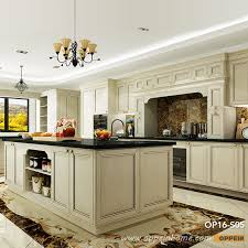 OP16 S05: Traditional Ashtree Solid Wood Grain Double Island Kitchen Cabinet
