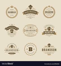 Bakery Logos Design Bakery Logos And Badges Design Templates Set
