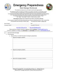 Emergency Preparedness Merit Badge Chart Emergency Preparedness Us Scouting Service Project