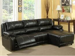 ... L Shaped Sectional Sofa Black Leather Colored Sofas With Chaise One  Brown Table White Lamp Two ...