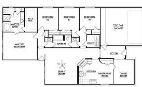 Single Story Three Bedroom House Plans  Homes ZoneSingle Level House Plans