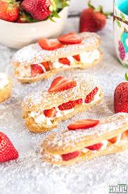 Strawberries And Cream Eclairs