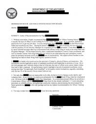 Air Force Letter Of Recommendation Example Air Force Journey 18