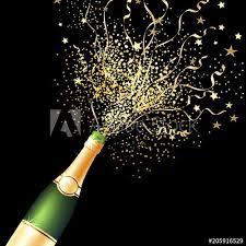 Party Invitation Background Image Confetti Bottle Champagne Background Black Celebration Party