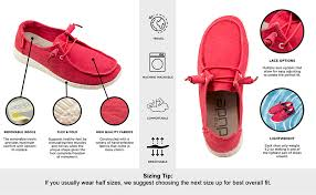 Hey Dude Shoes Size Chart Hey Dude Womens Wendy Loafer Shoes
