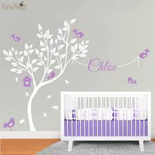 baby nursery wall decals huge white tree decal vinyl sticker wallpaper on tree wall art for baby nursery with baby nursery wall decals illuminating us