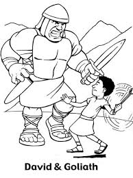 Small Picture David and goliath coloring pages to print ColoringStar