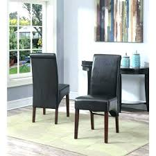 faux leather parsons chairs faux leather parsons chairs home tanners brown dining chair set of 2