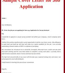 Application For Employment Cover Letter Sample Tomyumtumweb Com