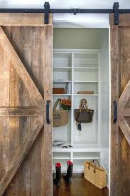 sliding barnwood door rustic doors diy barn wood closet hardware track system set