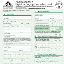 A Fill d778b Your Workshop Card Tachograph To How In Application For Digital