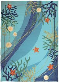 details about starfish c nautical tropical coastal indoor outdoor area rug free