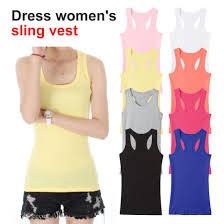 New Solid <b>Slim Women tank Tops</b> Summer Sleeveless Jersey ...