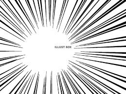 無料イラスト 背景集中線ラインシンプル飾り吹き出しイラスト線
