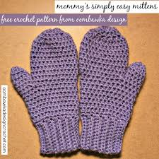 Mittens Pattern Simple Mommy's Simply Easy Mittens Free Pattern Oombawka Design Crochet