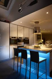 kitchen mood lighting. Use Your Kitchen Island To Add Mood Lighting Contemporary With Glowing Under Counter Lighting.