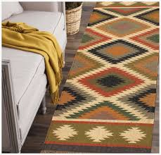 rugsville boho tribal multi wool jute runner rug 2 6 x 8