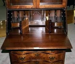 small antique secretary desk with hutch desks for de