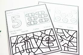 Funny numbers coloring page : Free Color By Number Color Worksheets For 0 10