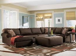 living room ideas with brown sectionals. Living Room Ideas : Sectional Brown Interesting Fabric Sofa With Ottoman Rectangle Contemperary Wool Rugs Cozy Sectionals Home L