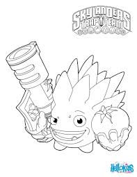 Skylanders Trap Team Coloring Pages Food