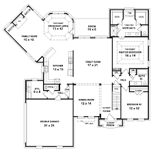 good 4 bedroom house plans one story or open one story house plans unique small design