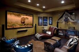 designing home theater. Awesome Designing Home Theater With Maroon Leather Lounge Chair Interior Design Excellent Living Room Brown Sofa