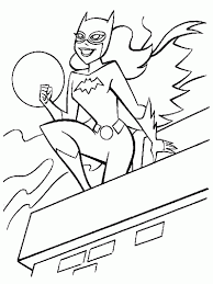 Batgirl Coloring Pages Books 100 Free And Printable