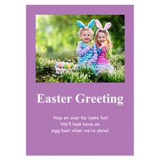 Personalized Baby Purple Easter Invitations 5x7 Stationery Card