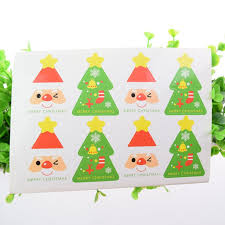 Christmas Tree Labels Us 0 41 40 Off Hand Made Christmas Tree Scrapbooking Kraft Paper Labels Envelopes Packaging Seals Sticker Diy For Cake Box Wrapping Baking In Gift