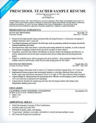 Piano Teacher Resume Sample Best Of Nursery Teacher Resume Preschool Teacher Combination Resume Sample