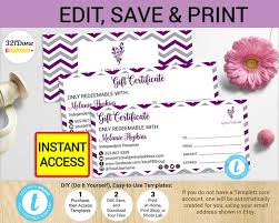 Younique Gift Certificate Template Younique Gift Certificate Younique Coupon Younique Certificate Etsy