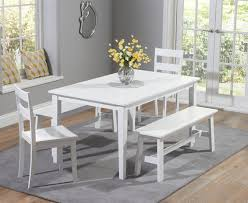 charming diningle with bench and chairs glass breakfast set miami black vegas on dining room