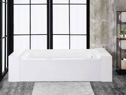 60 x 34 alcove acrylic soaking bathtub with right drain fbt florence 6034 r ch