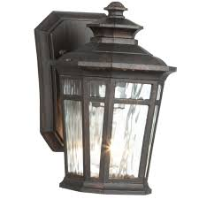 lighting on wall. Home Decorators Collection Waterton 1-Light Dark Ridge Bronze Outdoor Wall Lantern Lighting On H