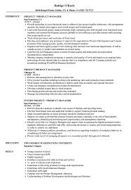 Project Product Manager Resume Samples Velvet Jobs