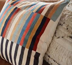 Carson Crewel Stripe Pillow Cover
