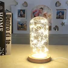 diy led lamp fire tree silver lantern creative small led lamp wedding birthday gifts with plug