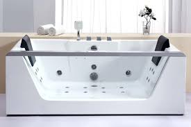 bathtubs idea freestanding jetted tub tubs glass in rectangular shape with pull whirlpool 60 inch gla