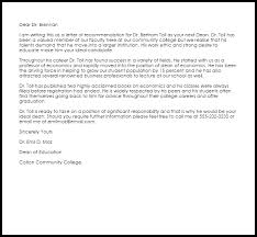 faculty letter of recommendation dean recommendation letter example letter samples templates