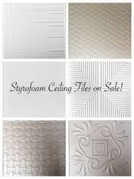 How To Install Decorative Ceiling Tiles PEmbossed Polystryrene Foam Ceiling Tiles Are Easy To Install While 48