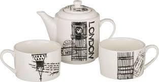 """<b>Набор чайный Lefard</b> """"<b>London</b>"""", 3 предмета. 34367-3"""