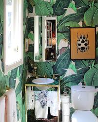 rental apartment bathroom ideas. Banana Leaf Wallpaper Martinique 30 Ways To Upgrade Your Rental Apartment Bathroom Ideas .