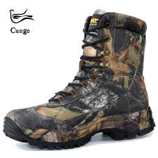 cunge tactical military combat hiking boots waterproof hiking shoes men boots leather shoes high top boots sport travel shoes malaysia