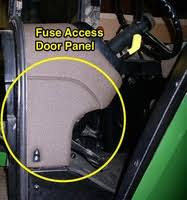 fuse access door panel john deere 55 60 series tractor looking for a fuse access door panel for a john deere 55 60 series tractor